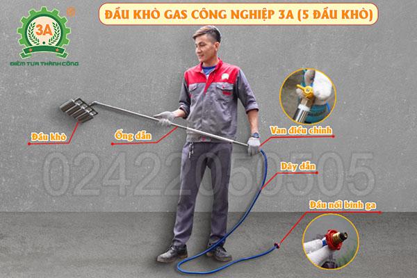 Đầu khò gas công nghiệp 3A 5 đầu khò (17)