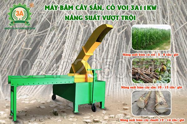 Máy băm cây sắn, cỏ voi 3A11kW (09)
