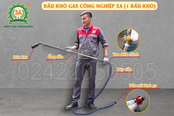 Đầu khò gas công nghiệp 3A 1 đầu khò (10)