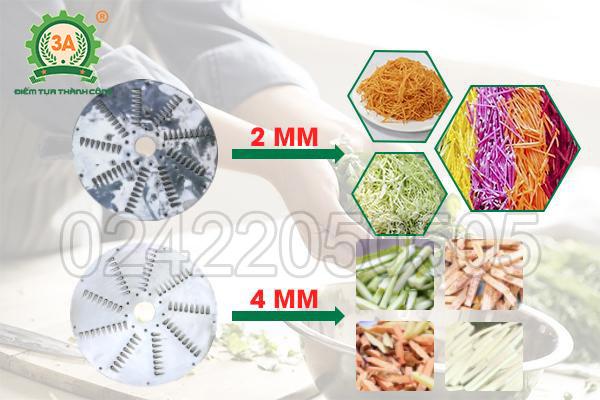 Máy bào sợi rau củ thông minh inox 3A1,5kW (06)