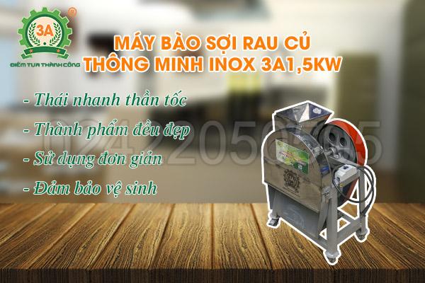Máy bào sợi rau củ thông minh inox 3A1,5kW (09)