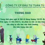 Thông báo lịch làm việc lễ Giỗ Tổ Hùng Vương 2021