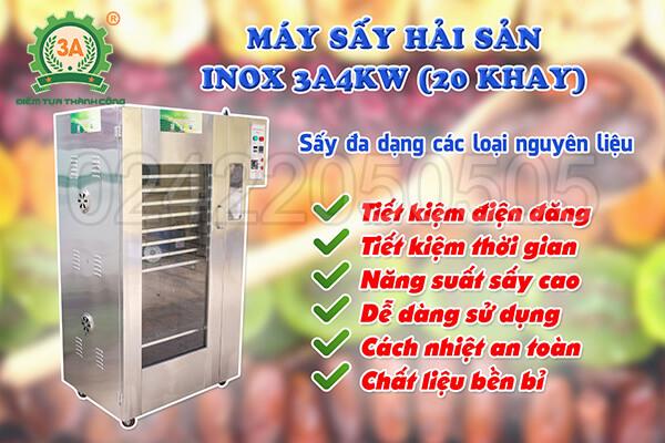 Máy sấy hải sản inox 3A4kW (05)