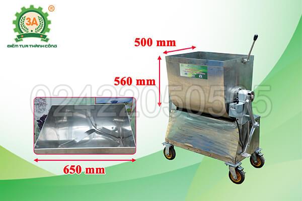 Máy trộn bột nằm ngang inox 3A2,2kw (07)