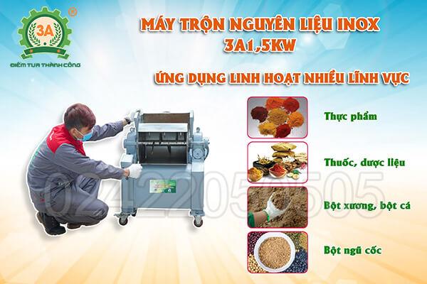 Máy trộn nguyên liệu inox 3A1,5kW (05)