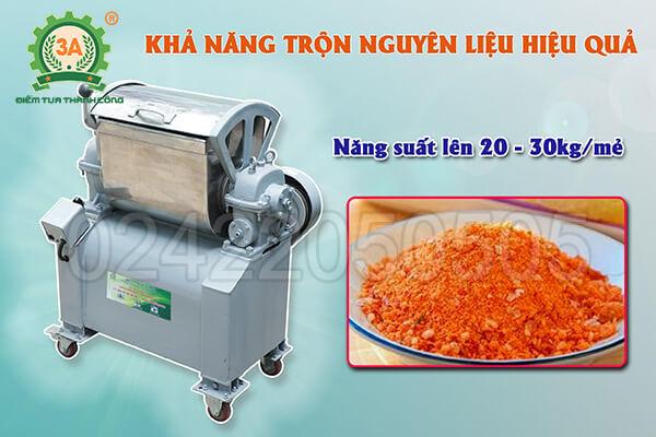 Máy trộn nguyên liệu inox 3A1,5kW (06)