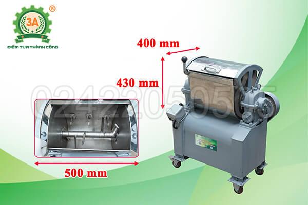 Máy trộn nguyên liệu inox 3A1,5kW (07)
