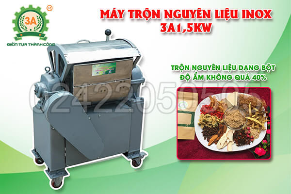 Máy trộn nguyên liệu inox 3A1,5kW (10)
