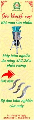 khuyến mãi máy băm nghiền đa năng 3A2,2kw