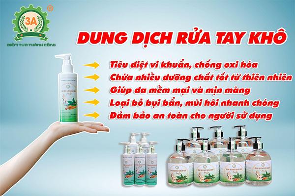 Dung dịch rửa tay khô