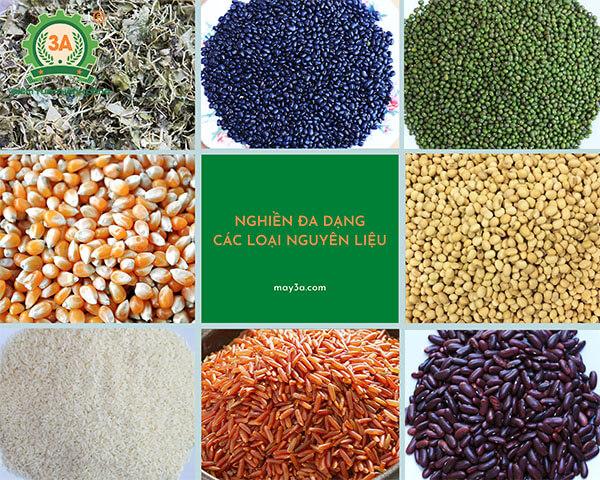 Máy nghiền bột rau má, ngũ cốc khô 3A3,5Kw (07)