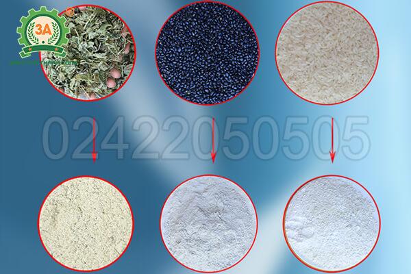 Máy nghiền bột rau má, ngũ cốc khô 3A3,5Kw (08)