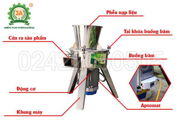 Máy thái chuối cho gà vịt 3A2,2Kw inox (11)