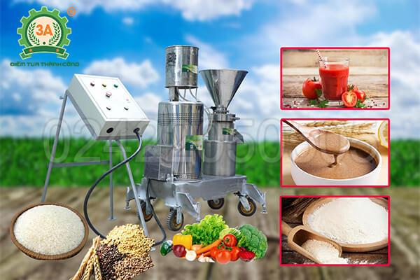 Máy xay thịt làm giò công nghiệp 3A11KW siêu mịn (09)