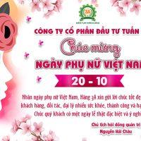 Chúc mừng ngày phụ nữ Việt Nam 20/10/2021